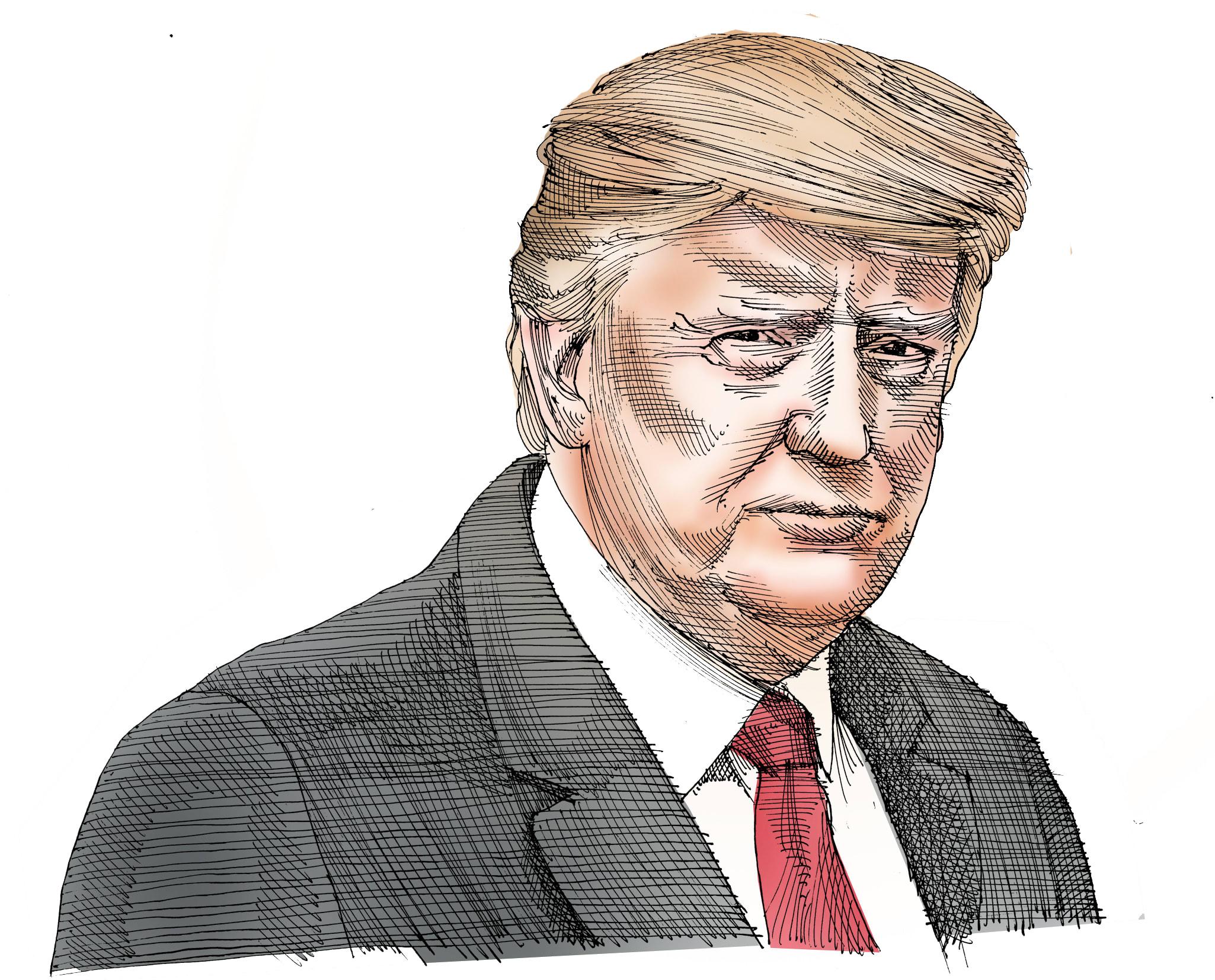 דונלד טראמפ / איור: גיל ג'יבלי