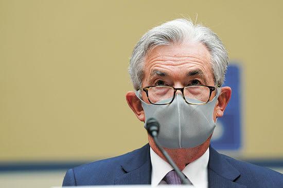 """יו""""ר הפד ג'רום פאואל בתשאול בבית הנבחרים בנושא וירוס הקורונה בספטמבר / צילום: Associated Press, Stefani Reynolds"""