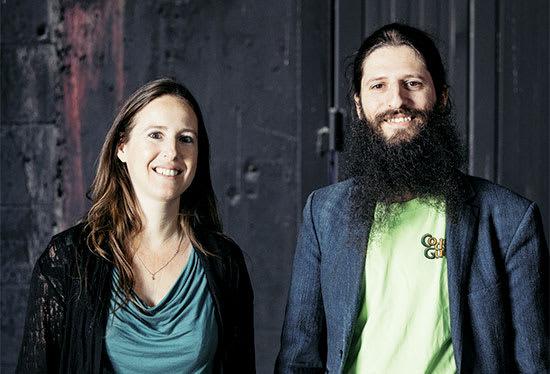 קרן צוקרמן ואאור שרף, מייסדי פיזבק / צילום: מיכה לובטון