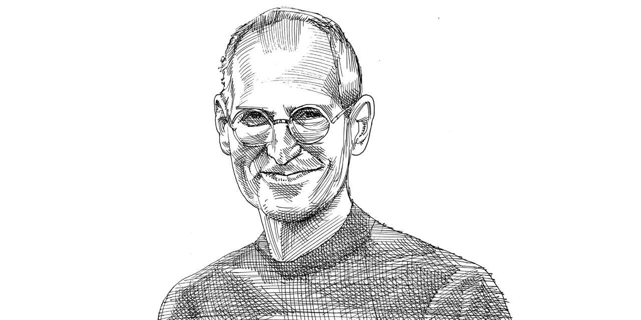 סטיב ג'ובס / איור: גיל ג'יבלי