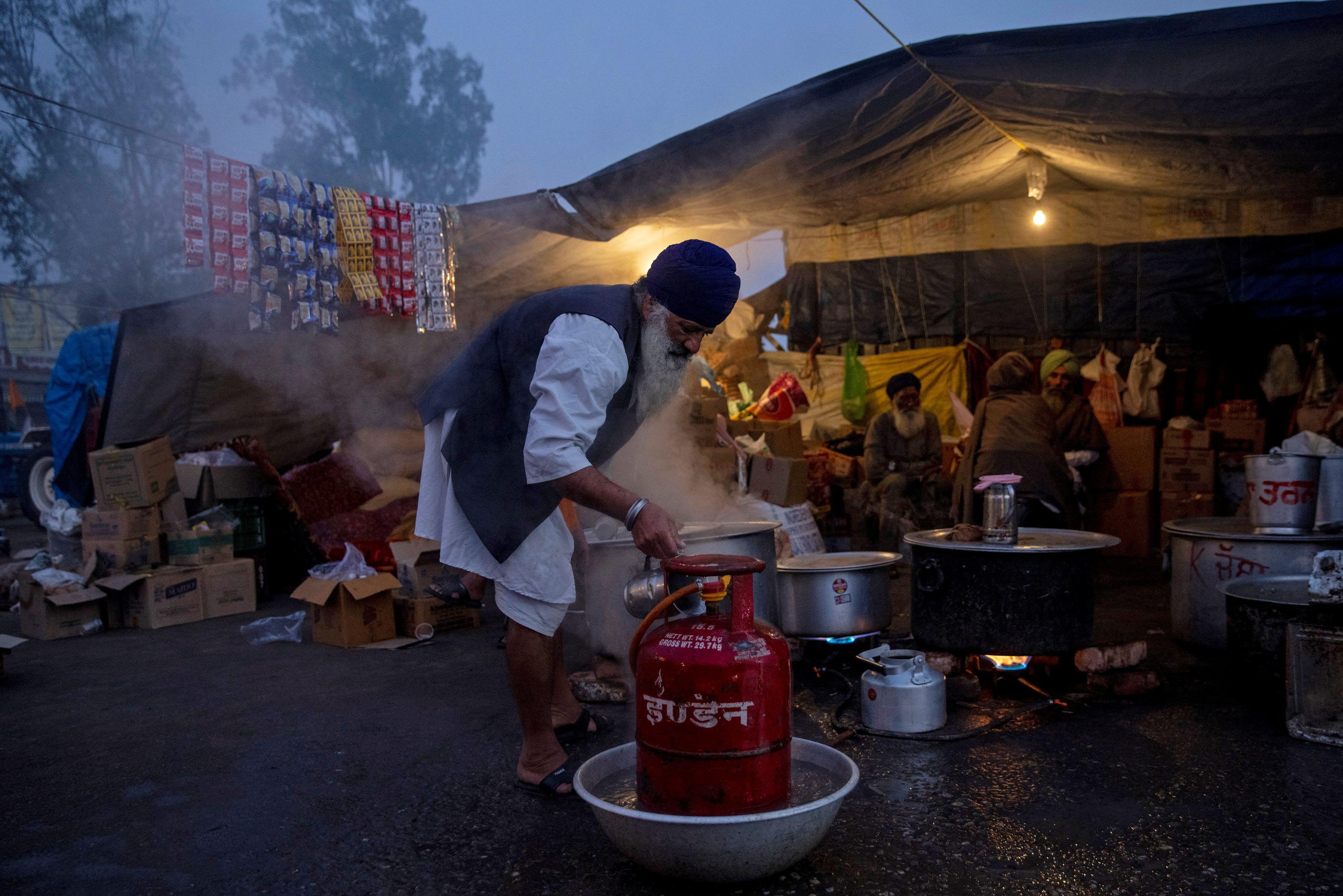 מחנה מחאה סמוך לניו דלהי / צילום: Danish Siddiqui