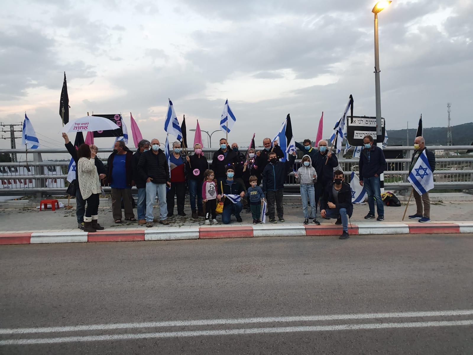 מפגינים בג'למה / צילום: הדגלים השחורים