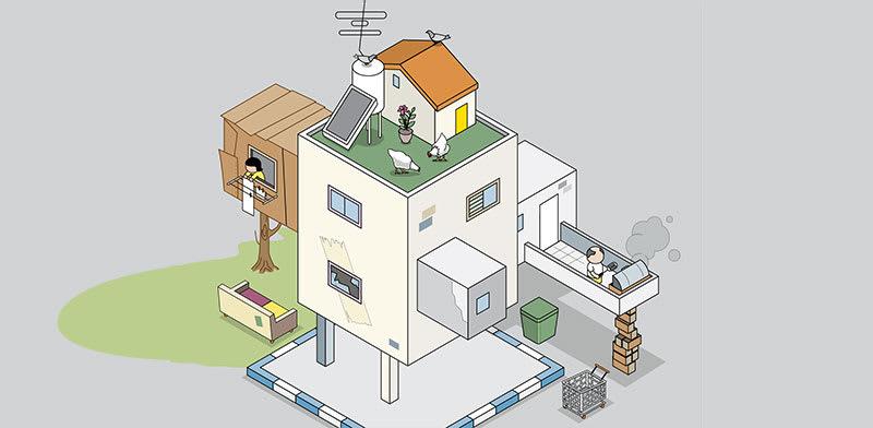 עבירות בנייה / איור: אייל אונגר