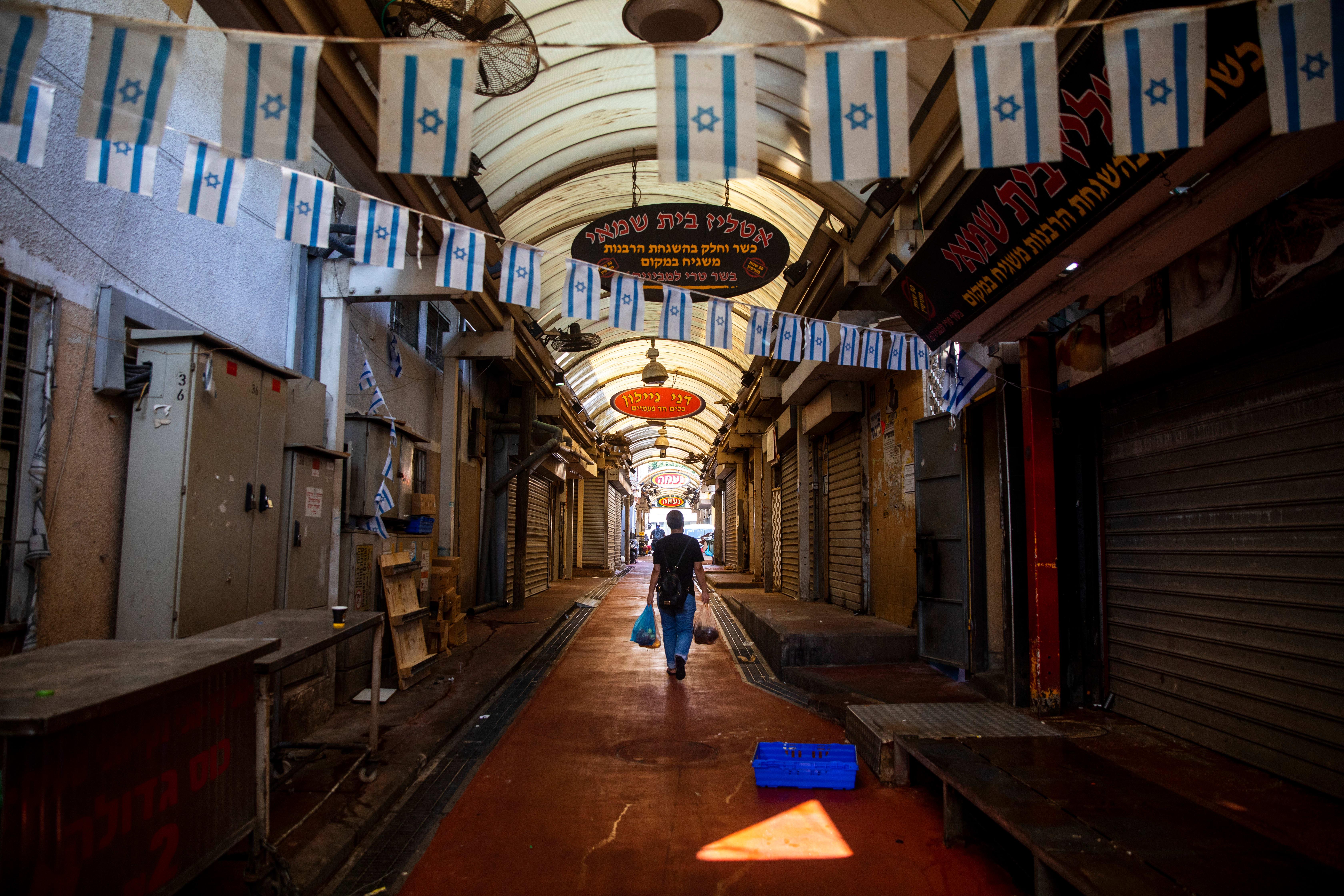 שוק סגור בתל אביב בסגר השני בספטמבר / צילום: Associated Press, Oded Balilty