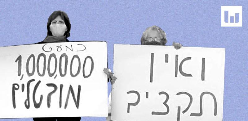 המחאה על המצב הכלכלי בעקבות הקורונה / צילום: הדגלים השחורים