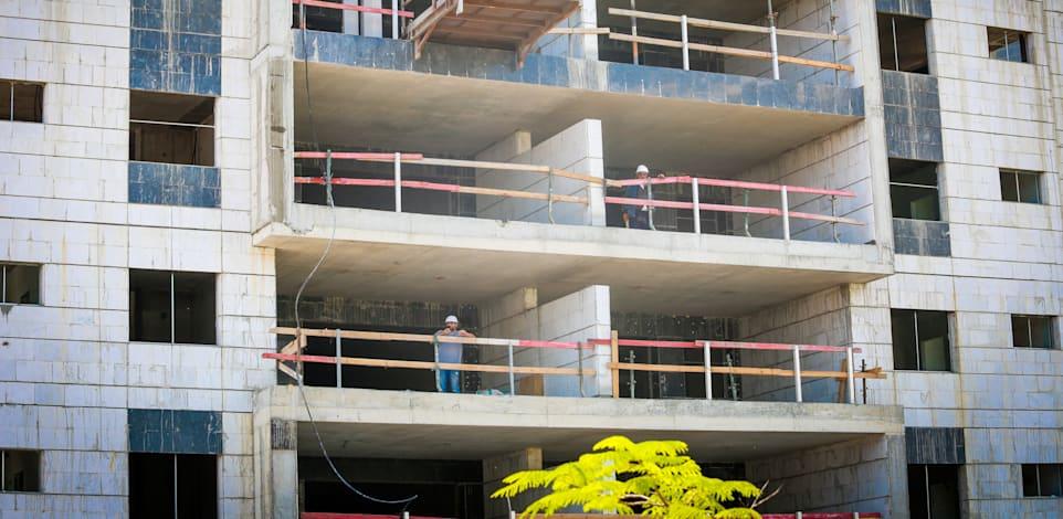 דירות בבנייה. עיכוב בעקבות הקורונה / צילום: שלומי יוסף