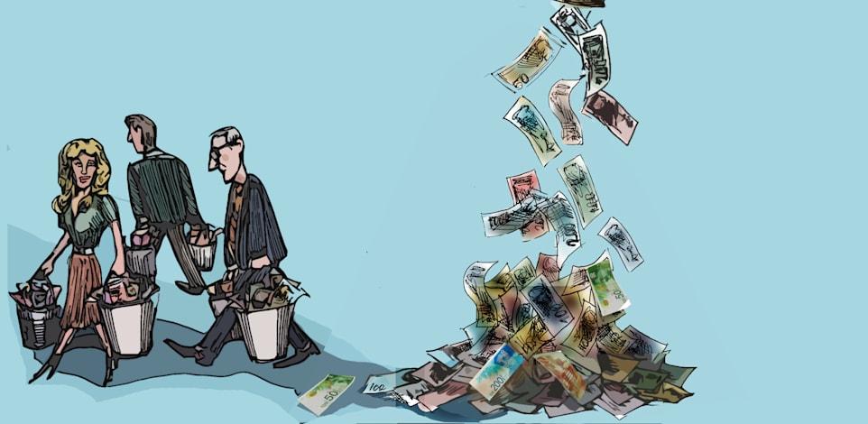 כסף נזילות / איור: גיל ג'יבלי