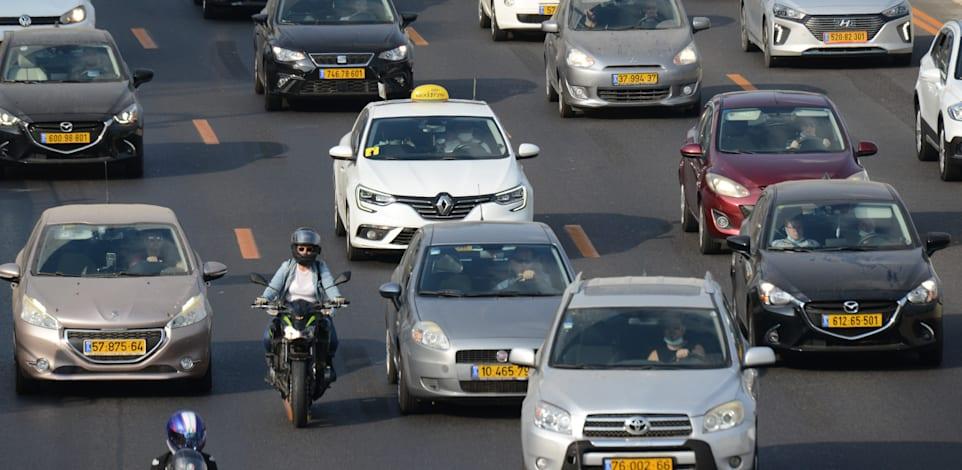 פקקים בכביש איילון / צילום: איל יצהר