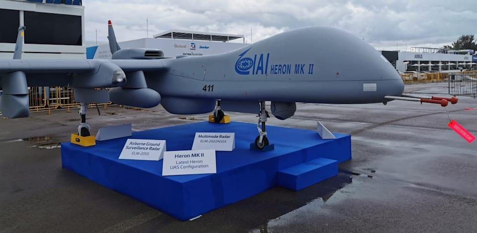 """מל""""ט הרון MK II / צילום: התעשייה האווירית"""