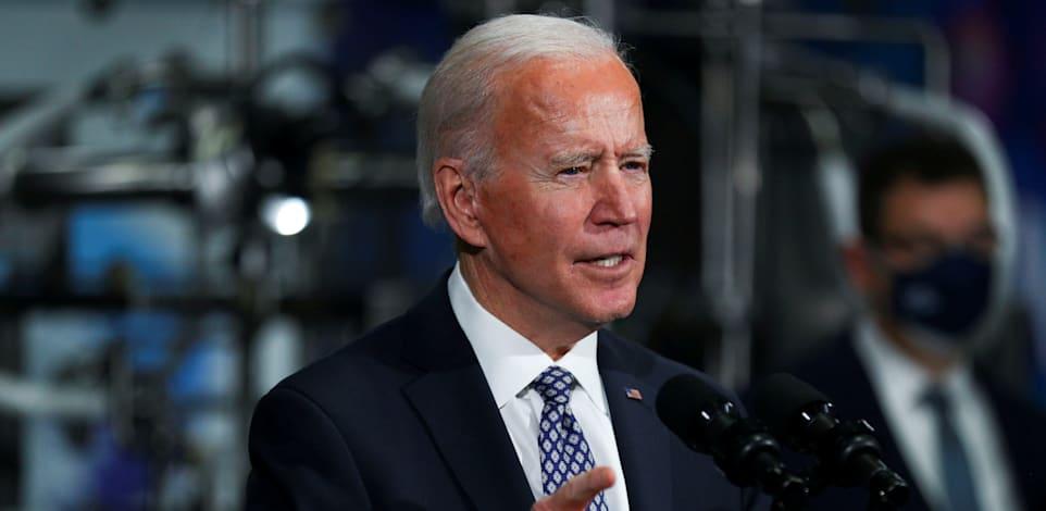 """ג'ו ביידן, נשיא ארה""""ב / צילום: Reuters, Tom Brenner"""