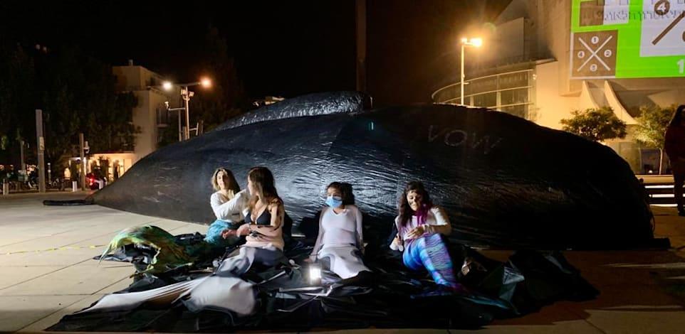 """הפגנת פעילי סביבה בכיכר הבימה בת""""א / צילום: שני אשכנזי"""