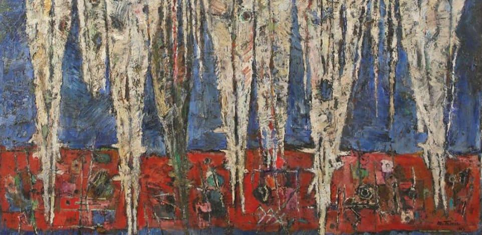 היצירה של משה טמיר / צילום: באדיבות גלריה תירוש