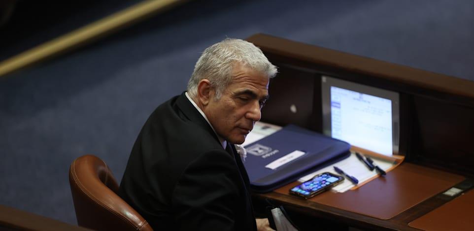 השבעת הכנסת ה 24, יאיר לפיד / צילום: אלכס קולומויסקי-ידיעות אחרונות