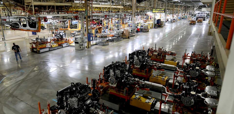 מפעל של GM בדטרויט / צילום: Reuters, Eric Seals/Detroit Free Press/TNS