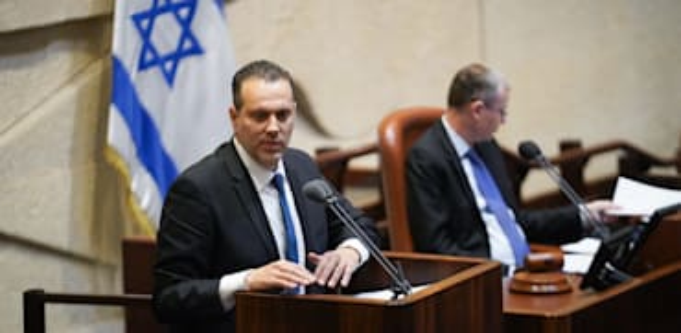 מיקי זהר במליאה על הרכב הוועדה המסדרת / צילום: דוברות הכנסת - נועם מושקוביץ
