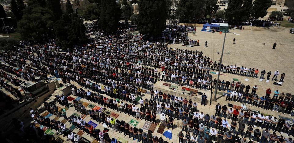 מציינים את הרמדאן בירושלים / צילום: Reuters, Ammar Awad