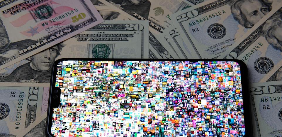 היצירה EVERYDAYS של האומן Beeple. נמכרה כ־NFT ב־69 מיליון דולר / צילום: Shutterstock