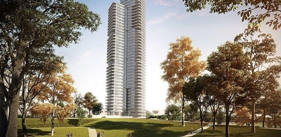 פרויקט בראשית בבלי. 44 קומות ו־174 יחידות דיור / הדמיה: יסקי מור סיון