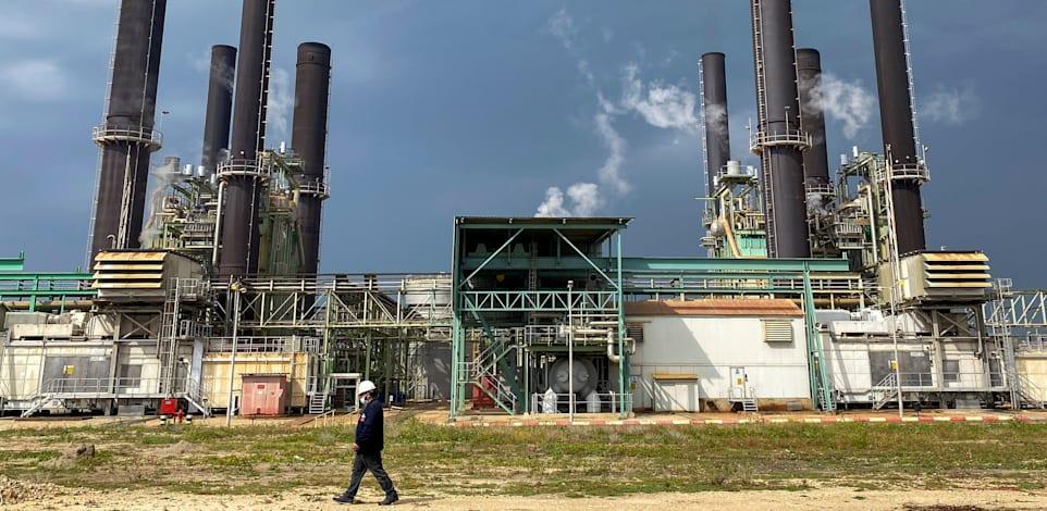 תחנת הכוח בעזה, טרם סבב הלחימה הנוכחי / צילום: Reuters, MOHAMMED SALEM