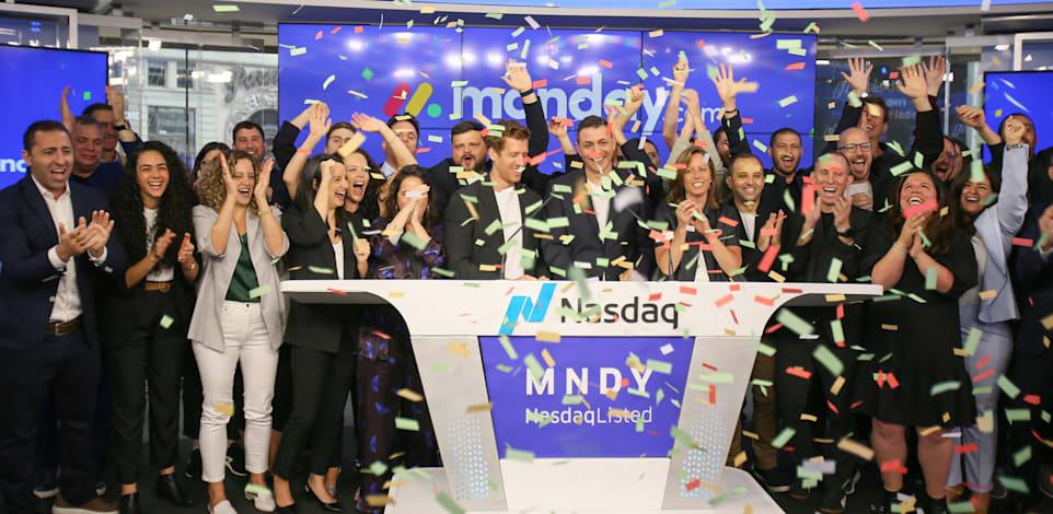 """טקס פתיחת המסחר של חברת מאנדיי / צילום: נאסד""""ק"""