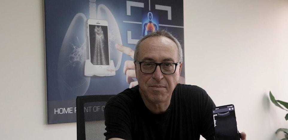 """מנכ""""ל פלסאנמור ד""""ר אלעזר זוננשיין ומוצר החברה / צילום: פלסאנמור יח""""צ"""
