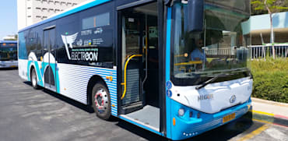 האוטובוס החשמלי של אלקטריאון / צילום: קובי ישעיהו