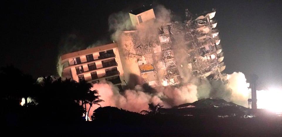 חששו שההוריקן יפגע ביציבות שרידי הבניין