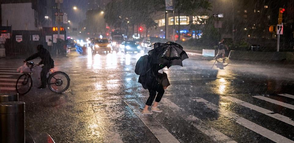 """הסופה איידה מכה בצפון מזרח ארה""""ב"""