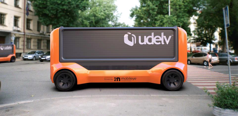 רכב משלוחים אוטונומי של חברת Udelv, טכנולוגיה של מובילאיי / צילום: יח''צ Udelv