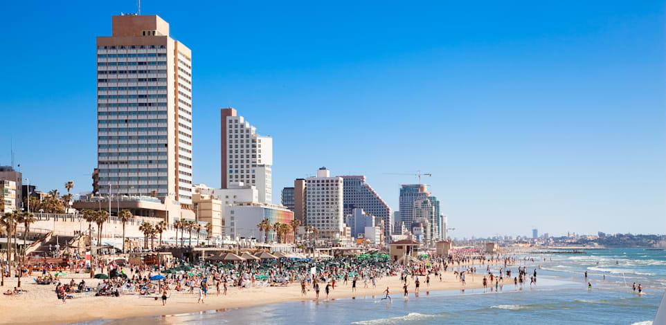 חוף ים בתל אביב / צילום: Shutterstock, Aleksandar Todorovic