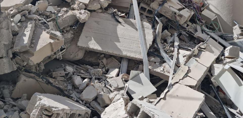 הבניין שקרס בחולון / צילום: עיריית חולון