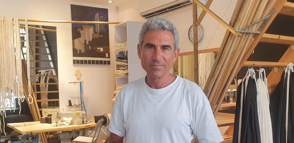 שלומי מורדוב בעל העסק ''ערסל בעיר'' שמייצר ומשווק ערסלים ייחודיים ומוצרי פנאי / צילום: אורי מורדוב
