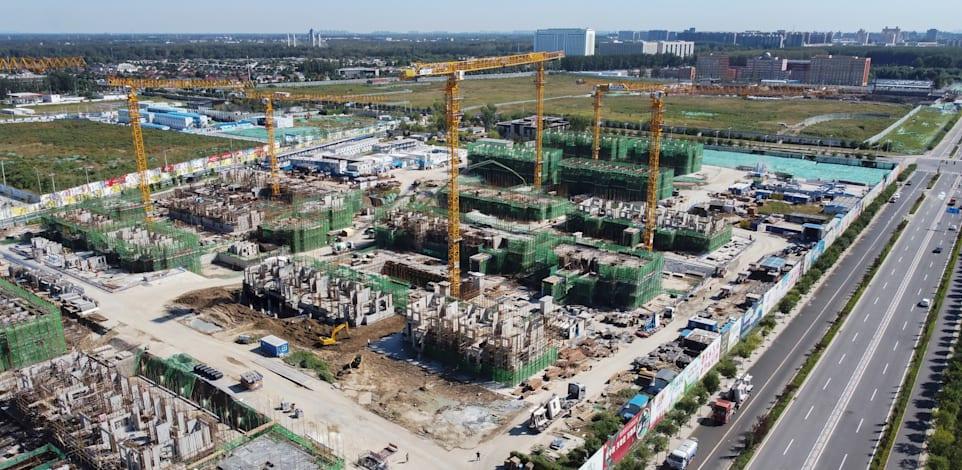 פרויקט של אוורגרנד בבנייה בבייג'ינג, סין / צילום: Associated Press