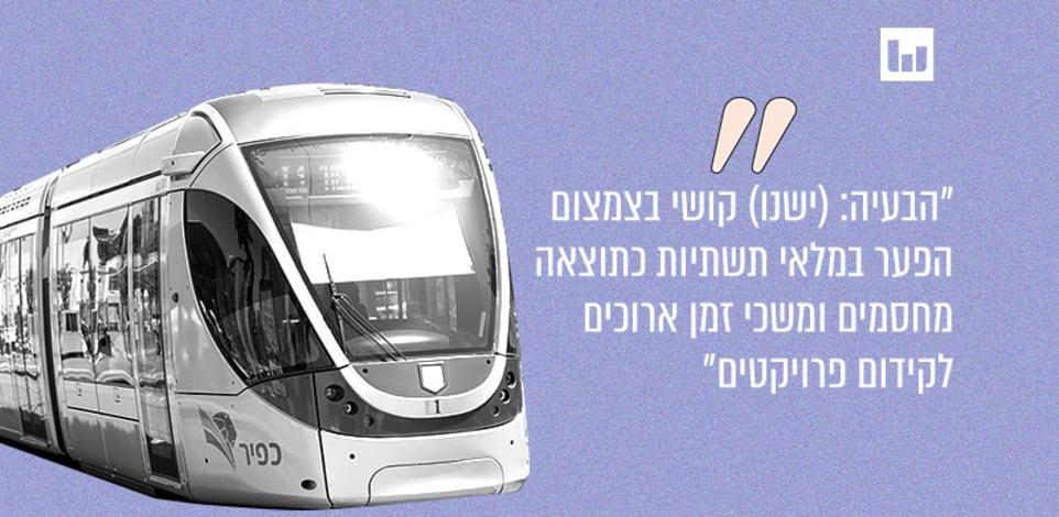 הרכבת הקלה בירושלים. מתוך מצגת של משרד האוצר המלווה את חוק ההסדרים יולי 2021 / צילום: כפיר הרכבת הקלה בירושלים