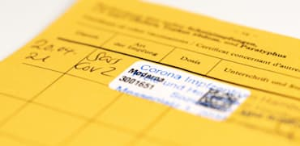 פנקסי חיסון צהובים בינלאומיים שהנפיקו המרפאות בגרמניה. בחודשים האחרונים, אחרי פיתוח אפליקציה ייעודית, ביקשו הרשויות להמיר את התעודות והנתונים לקוד QR / צילום: Shutterstock, Christian Horz