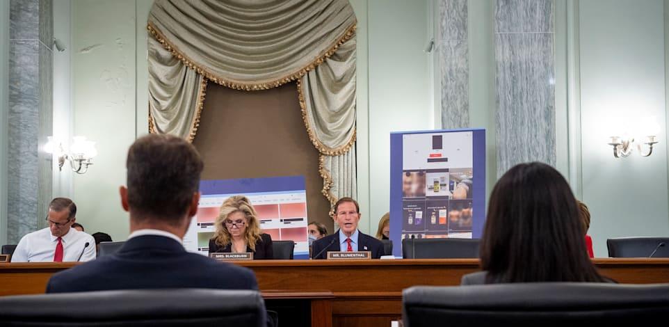 נציגי טיקטוק וסנאפצ'אט בוועדת המשנה להגנת הצרכן, בטיחות מוצר ואבטחת מידע בסנאט / צילום: Reuters, Rod Lamkey / CNP/Sipa USANo