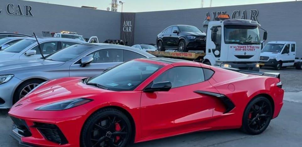 רכב שברולט קורבט שעוקל / צילום: רשות המסים