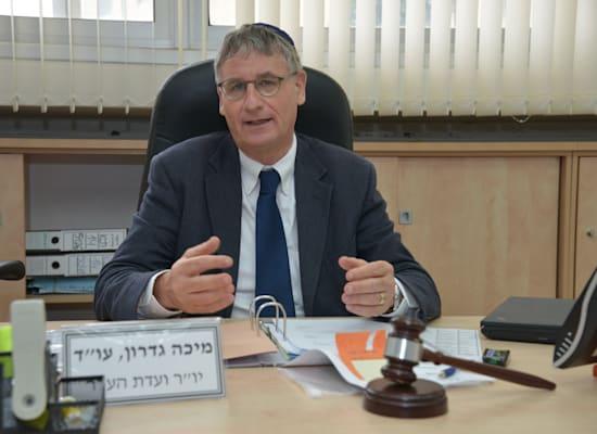"""יו""""ר (משותף) של ועדת התכנון והבניה של לשכת עורכי הדין, מיכה גדרון / צילום: תמר מצפי"""