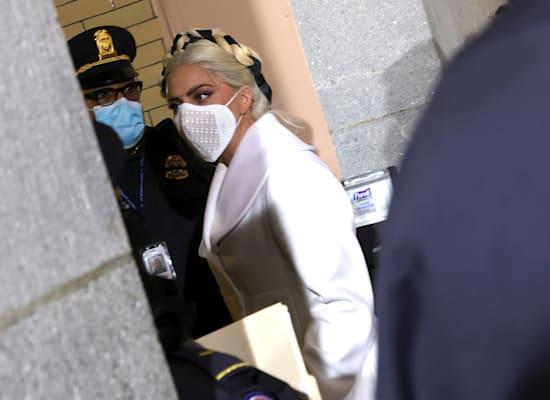 ליידי גאגא מגיעה להשבעה של ג'ו ביידן / צילום: Reuters, Win McNamee/CNP/InStar/Cover Images