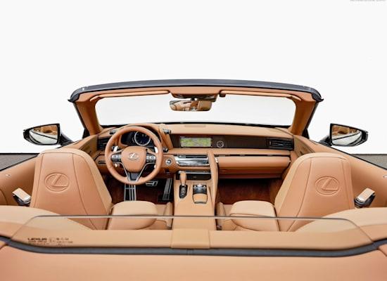 """לקסוס LC500 קבריולה מבפנים / צילום: יח""""צ"""
