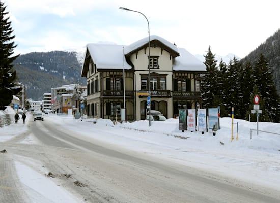 העירייה השווייצרית דאבוס ריקה לאחר הכינוס הכלכלי העולמי נערך באופן מקוון / צילום: Reuters, Arnd Wiegmann