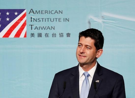 """פול ריאן לשעבר יו""""ר בית הנבחרים של ארה""""ב / צילום: Reuters, TYRONE SIU"""