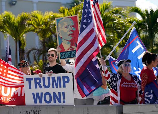 תומכים בטראמפ בווסט פאלם ביץ', החודש / צילום: Associated Press, Lynne Sladky