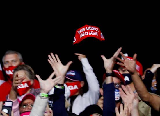 תומכי טראמפ באירוע לקראת הבחירות / צילום: Reuters, Tom Brenner