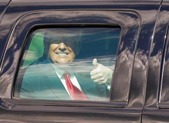 דונאלד טראמפ בתנועת מחווה לתומכיו, השבוע בפאלם ביץ' / צילום: Associated Press, Lynne Sladky