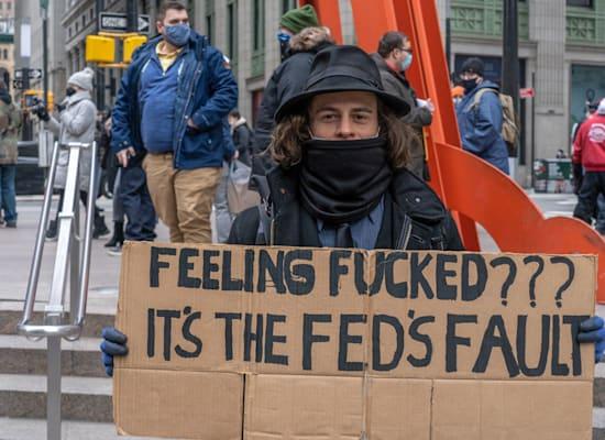 הפגנות בוול סטריט / צילום: Reuters, SOPA Images