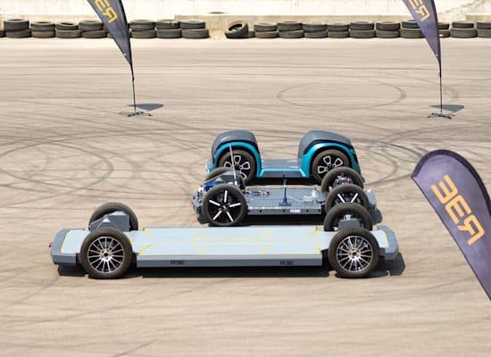 הפלטפורמה של REE לרכב חשמלי / צילום: Reuters
