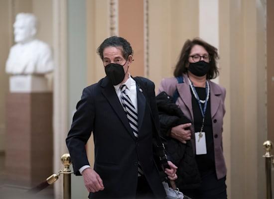 ראש צוות התובעים במשפט ההדחה של טראמפ, ציר בית הנבחרים ג'יימי רסקין ממרילנד / צילום: Associated Press, J. Scott Applewhite