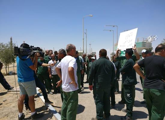 עובדי חיפה כימיקלים ב-2017, בעת המחאה נגד סגירת המפעל בצפון / צילום: דוברות ההסתדרות