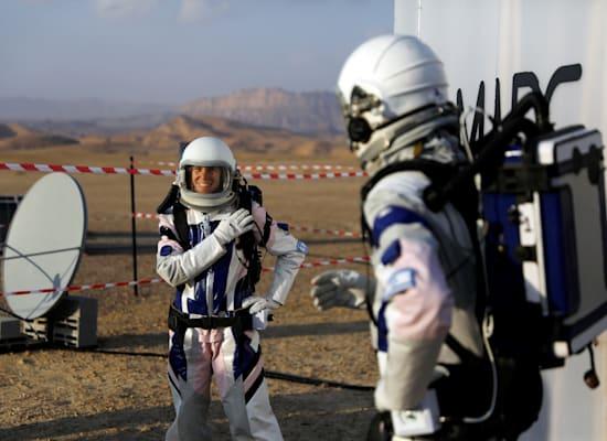 """מאדים. ההדמייה הראשונה. """"בסופו של דבר אתה צריך מדענים שיילכו בשטח"""" / צילום: Reuters, Ronen Zvulun"""
